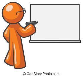 Design Mascot Dry Erase Board Blank - A design mascot with a...