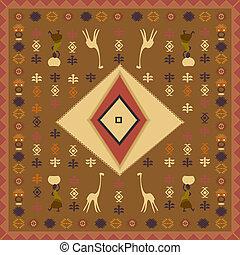 design, med, afrikansk, motives