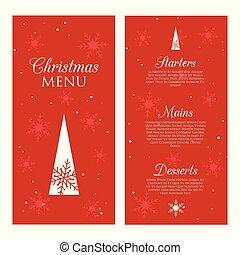design, meny, dekorativ, jul