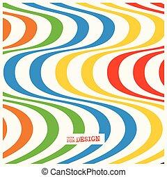 Design monochrome waving lines illusion background.
