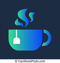 Design Morning Aroma Hot Drink in Cup Tea Icon
