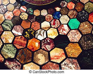 Design mosaic tile background photo.