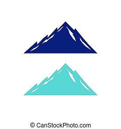 DESIGN MOUNTAINS BLUE ON WHITE