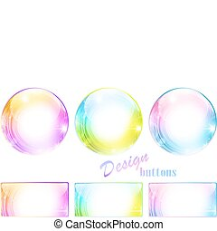 Design multicolored button set
