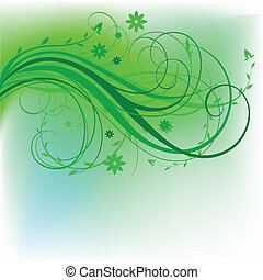 design, naturlig, grön