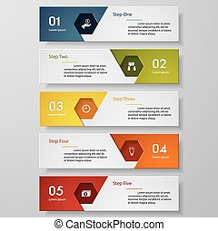 Design number banners template.