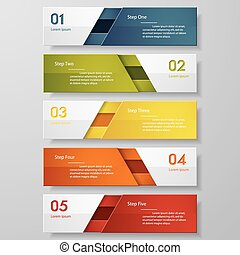 Design number banners template. - Design clean number...