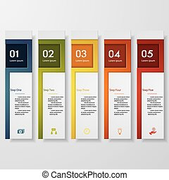 Design number banners template