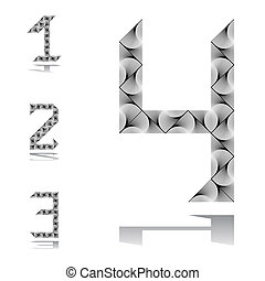 Design numbers set from 1 to 4