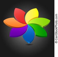 3D flower color wheel - Design of a 3D flower color wheel...