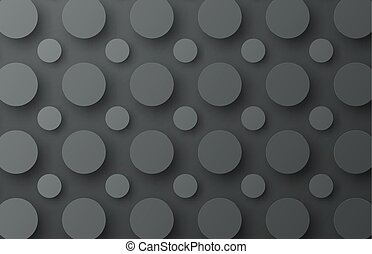 Design of a black metal background with floating circles of different size