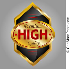 Design of a creative glossy and gold premium quality product label