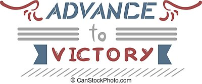 advance victory symbol - design of advance victory symbol
