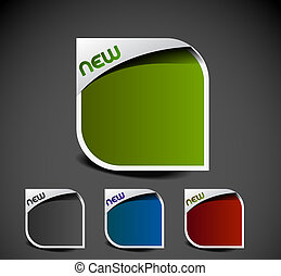 advertisement labels stickers - Design of advertisement...