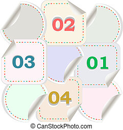 Design of advertisement numbers labels stickers