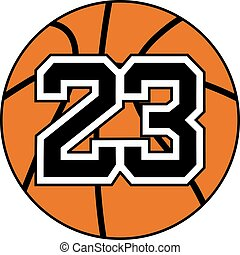 basket 23 number icon