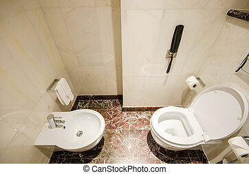 Design of bathroom interior