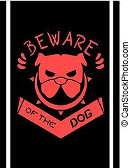 beware of the dog illustration