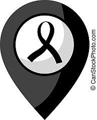 black ribbon symbol
