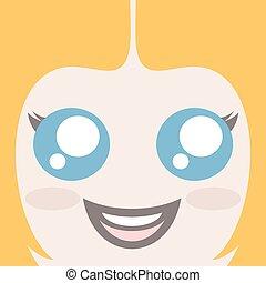 blonde girl face