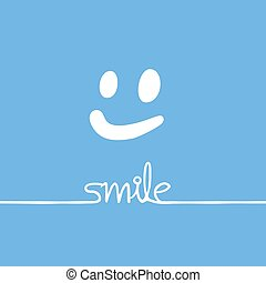 blue smile nice message