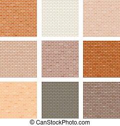 brick wall seamless set collection