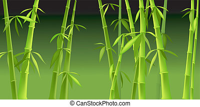 design of chinese bamboo trees,