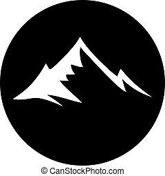 circle mountain icon