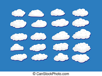 design of clouds Vector illustratio