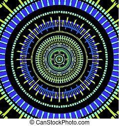 color art circles background