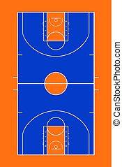 color basket court