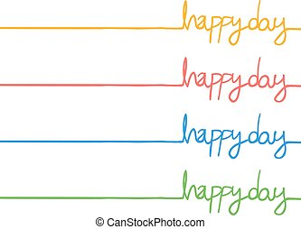 color happy day message
