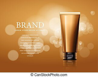 Design of cosmetics advertising.