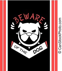 creative beware of the dog illustration