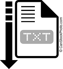 download txt symbol - design of download txt symbol