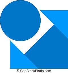 elegant blue icon
