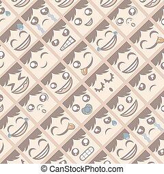 emotion faces wallpaper - design of emotion faces wallpaper