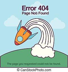 Design of error 404 with