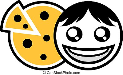 face eating pizza icon