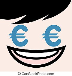 face with euro eyes draw