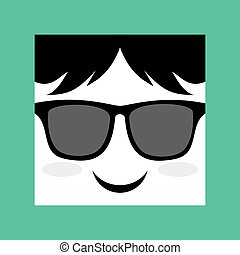 face with sunglasses icon