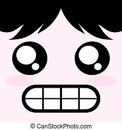 face with teeth