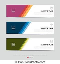 Banner design for business presentation - Design of flyers,...