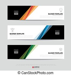 Banner design for business presentation - Design of flyers,...