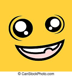funny crazy face - design of funny crazy face