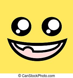 funny face illustration