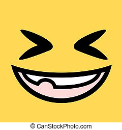 funny joke face illustration