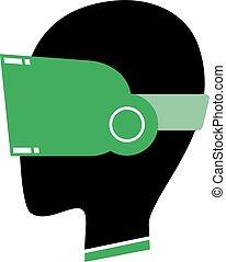 green vr glasses icon