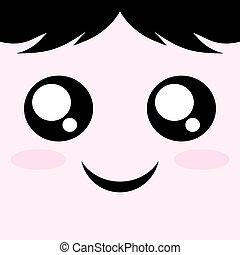 happy kawaii face