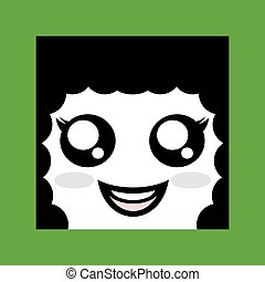 happy woman face icon